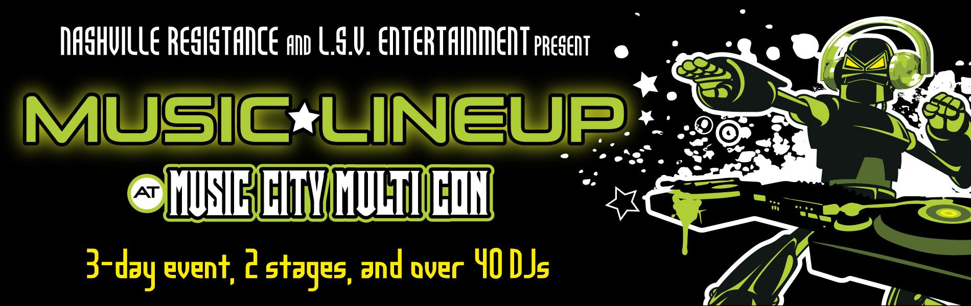 Music City Multi Con Guest - Music Lineup