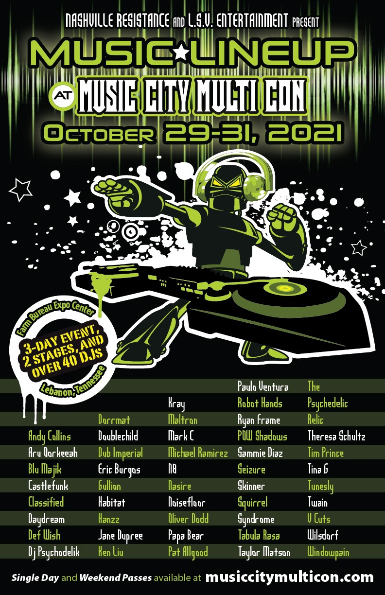 Music Lineup at Music City Multi Con